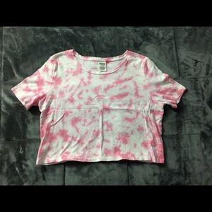 Tie Dye Cropped PINK Shirt